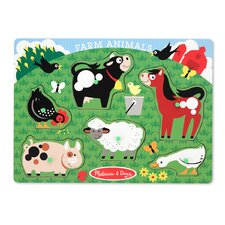 <strong>Melissa and Doug</strong> Farm Animals Peg Puzzle