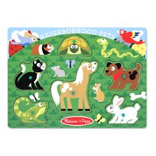 <strong>Melissa and Doug</strong> Neighborhood Pets Peg Puzzle