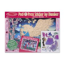Mystical Unicorn Peel and Press Sticker by Number
