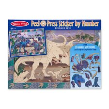 Dinosaur Dusk Peel and Press Sticker by Number