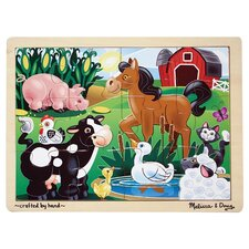 <strong>Melissa and Doug</strong> On The Farm Wooden Jigsaw Puzzle