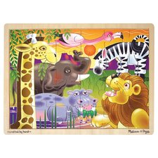 <strong>Melissa and Doug</strong> African Plains Wooden Jigsaw Puzzle