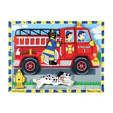 <strong>Melissa and Doug</strong> Fire Truck Chunky Wooden Puzzle
