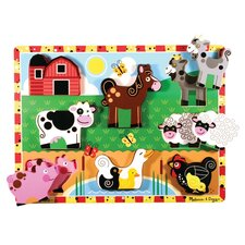 <strong>Melissa and Doug</strong> Farm Chunky Wooden Puzzle