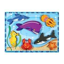 <strong>Melissa and Doug</strong> Sea Creatures Chunky Wooden Puzzle
