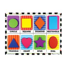 <strong>Melissa and Doug</strong> Shapes Chunky Wooden Puzzle