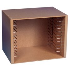 Natural Wood Puzzle Storage Box Unit