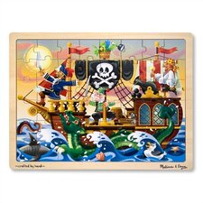 <strong>Melissa and Doug</strong> Pirate Adventure Wooden Jigsaw Puzzle