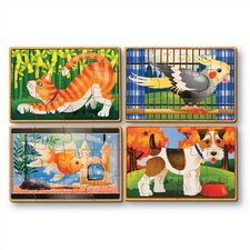 <strong>Melissa and Doug</strong> Pets in a Box Wooden Jigsaw Puzzle