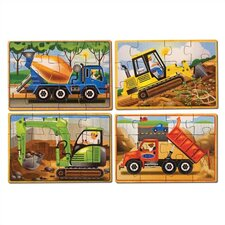 <strong>Melissa and Doug</strong> Construction in a Box Wooden Jigsaw Puzzle