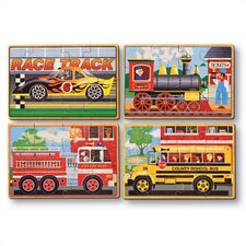 <strong>Melissa and Doug</strong> Vehicles in a Box Wooden Jigsaw Puzzle