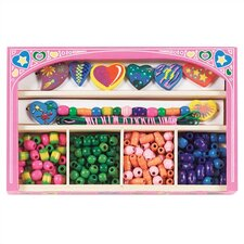 <strong>Melissa and Doug</strong> Sweet Hearts Wooden Bead Set Arts & Crafts Kit