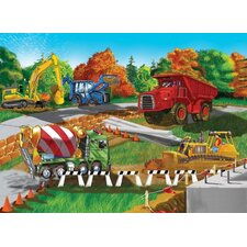 Construction Site Cardboard Jigsaw Puzzle