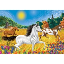 Horses in the Meadow Cardboard Jigsaw Puzzle