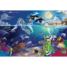 <strong>Melissa and Doug</strong> Underwater Playground Cardboard Jigsaw Puzzle