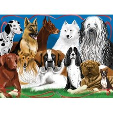 Fetching Friends Cardboard Jigsaw Puzzle