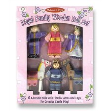 <strong>Melissa and Doug</strong> Royal Family Wooden Doll Set