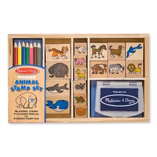 <strong>Melissa and Doug</strong> Wooden Animal Stamp Set