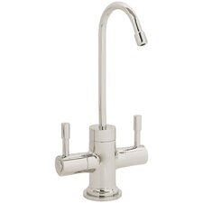 Contemporary Two Handle Single Hole Hot and Cold Water Dispenser Faucet