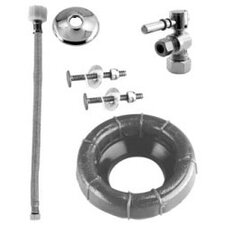 Wax Ring and  Ball Valve Toilet Kit with Lever Handle