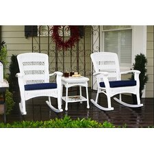Phat Tommy Portside Plantation 3 Piece Rocker Seating Group with Cushion