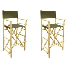 Phat Tommy Foldable Tall Directors Chair (Set of 2)