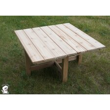 Phat Tommy Square Folding Cedar Patio Table