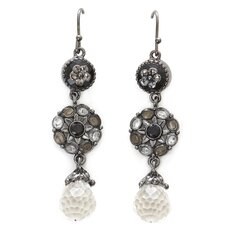 Artisans International Diamond Crystalline Drop Earrings