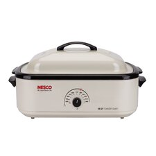 18 Qt. Non-Stick Roaster Oven in Ivory