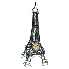 Metal Wire Eiffel Tower Table Clock