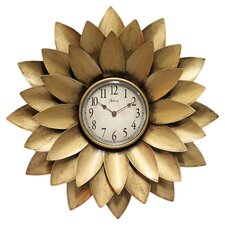 "20"" Midas Iron Flower Wall Clock"