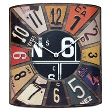 Peddler License Plate Wall Clock