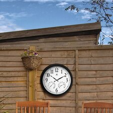 The Definitive Outdoor Atomic Wall Clock with Weather Station