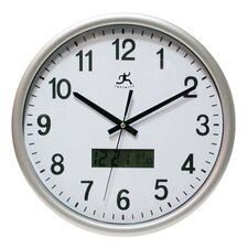 "<strong>Infinity Instruments</strong> 13.5"" Datekeeper Wall Clock"