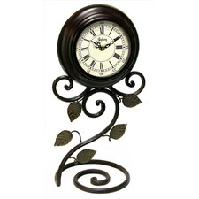 <strong>Infinity Instruments</strong> Iron Perennial Table Clock