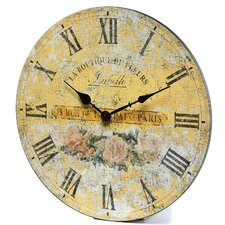 "Boutique Roses 14"" Wall Clock"