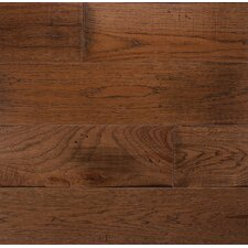 """Wide Plank 6"""" Engineered Hickory Flooring in Saddle"""