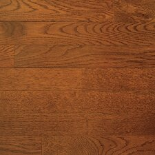 "Color Plank 3-1/4"" Engineered White Oak Flooring in Gunstock"