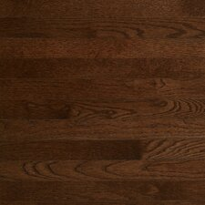 "Color Plank 3-1/4"" Engineered White Oak Flooring in Metro Brown"