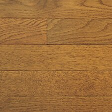 "Color Strip 2-1/4"" Solid White Oak Flooring in Gunstock"