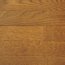 "Color Plank 5"" Solid White Oak Flooring in Gunstock"