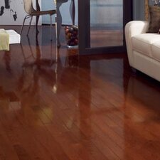 """Color Strip 2-1/4"""" Solid Red Oak Flooring in Cherry Oak High Gloss"""