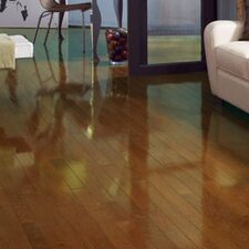 "Color Strip 3-1/4"" Solid White Oak Flooring in Chestnut High Gloss"