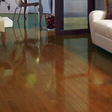 "Color Strip 3-1/4"" Solid Red Oak Flooring in Gunstock High Gloss"