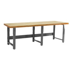 Roosevelt Height Adjustable Solid Maple Top Workbench