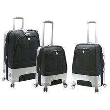 Valencia 3 Piece Expandable Spinner Hybrid Luggage Set