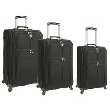 Quattro 3 Piece Expandable Spinner Luggage Set