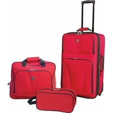 <strong>Travelers Club</strong> Bowman 3 Piece Luggage Set