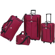 <strong>Travelers Club</strong> Euro Value II Deluxe 4 Piece Luggage Set