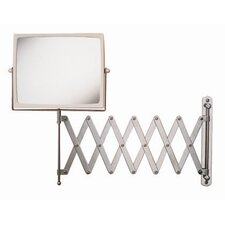 Regular 4X Magnifying Wall Mount Mirror in Chrome with White Frame
